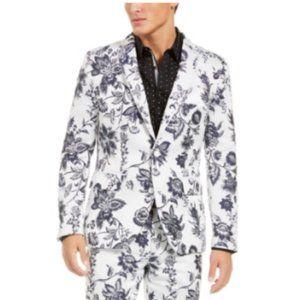 Men's White Floral Formal Jacket
